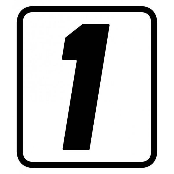 Aufkleber - Startnummer